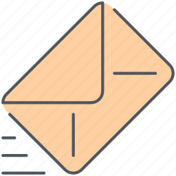 delivery, envelope, letter, mail, send, speech, talk icon