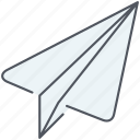 chat, child, communication, flight, fly, paperplane, prototype icon