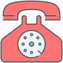 chat, communication, discussion, phone, speech, talk, vintage icon