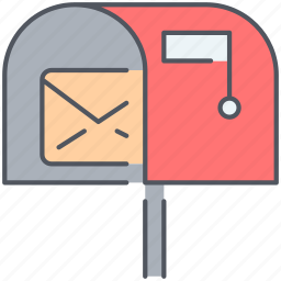 communication, inbox, letter, post, post office, speech, talk icon