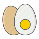 keto, egg, boiled, breakfast, food, diet, boil icon