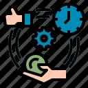 process, effective, performance, efficiency, value, effectiveness, optimization icon