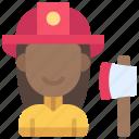 firefighter, worker, profession, job, fireman