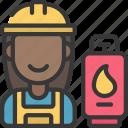 gas, engineer, worker, profession, job