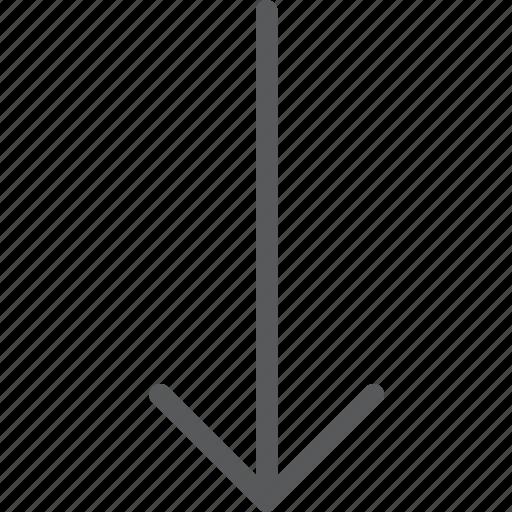 arrow, down, keyboard, lower, move, scroll icon