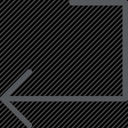 arrow, confirm, enter, keyboard, left, move, return icon