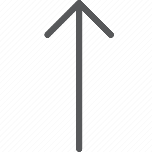 arrow, higher, keyboard, move, movement, scroll, up icon
