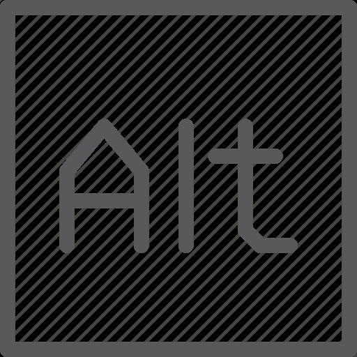 alt, box, key, keyboard, press, shortcut, square icon