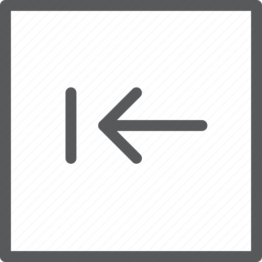 arrow, backspace, box, key, keyboard, left, square icon