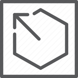 arrow, enter, escape, key, keyboard, square icon