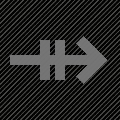 arrow, controls, key, keyboard, next, right, sign, type icon