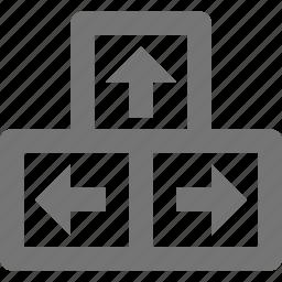 arrow keys, arrows, keyboard icon