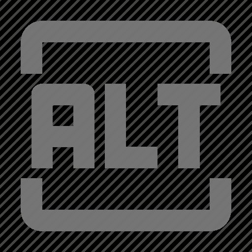alt, alt key, keyboard icon