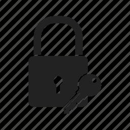 closed, key, lock, locked, password, secure, security, unlock icon