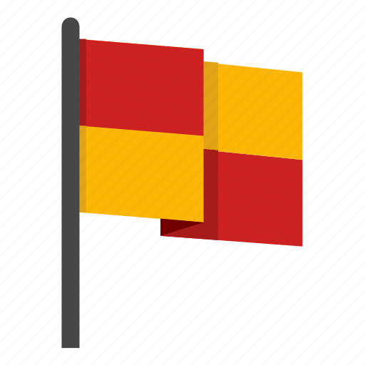 europe, flag, football, football flag, red, soccer, yellow icon