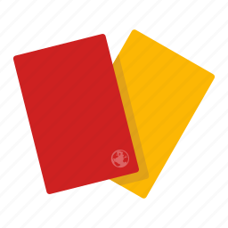 fault, misstep, mistake, red card, rule, soccer, yellow card icon