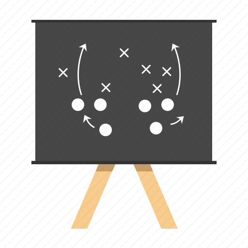 black board, football, game, plan, soccer, strategy, training icon