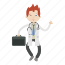 bag, boy, doctor, kid, physician icon