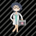 doctor, girl, healthcare, physician icon