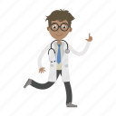 boy, doctor, physician, running icon