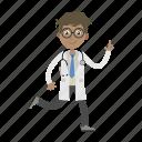 boy, doctor, physician, running