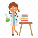 doctor, girl, kid, lab, physician icon