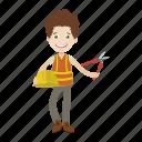 boy, engineer, mechanic, tool icon