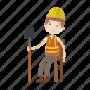 boy, engineer, labour icon