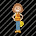engineer, girl, mechanic icon