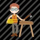 axe, boy, engineer, labour