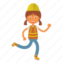 architect, engineer, girl, kid icon