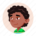 african, avatar, black, boy, child, face, kid icon