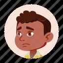 african, avatar, black, boy, child, face, kid icon