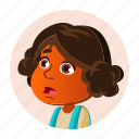 avatar, child, expression, girl, hindu, indian, kid icon