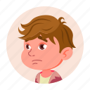 avatar, boy, child, emotion, expression, face, kid icon