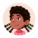 african, avatar, black, child, girl, kid icon