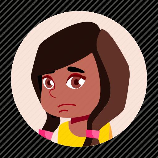 african, avatar, black, child, girl, kid icon