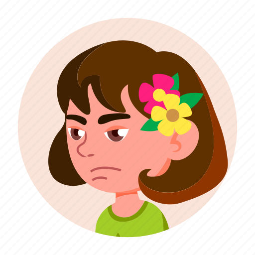 avatar, child, emotion, expression, face, girl, kid icon