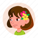 avatar, child, emotion, expression, face, girl, kid icon
