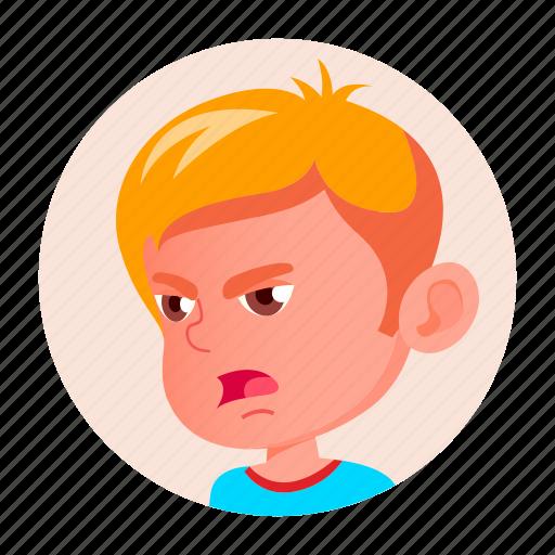 avatar, boy, child, emotion, expression, face, kid icon