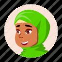arab, avatar, emotion, expression, girl, kid icon