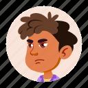 arab, avatar, boy, emotion, expression, kid icon