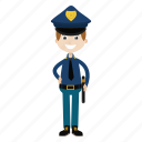 boy, kid, officer, police, policeman icon