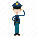 boy, cop, officer, police, policeman icon