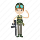 army, gun, military, soldier icon