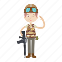 army, boy, gi, military, soldier icon