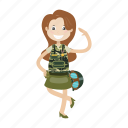 army, girl, military, soldier icon