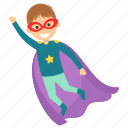 child superhero, comic superhero, superhero cartoon, superhero kid, superman flying icon