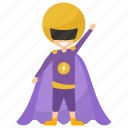child superhero, comic superhero, supergirl, superhero cartoon, superhero kid icon