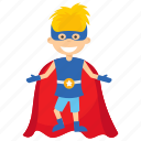 child superhero, comic superhero, kid superman, superhero cartoon, superhero kid icon